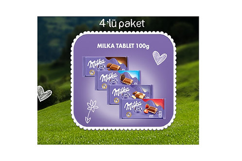 MİLKA Tablet 100 gr 4'lü Paket