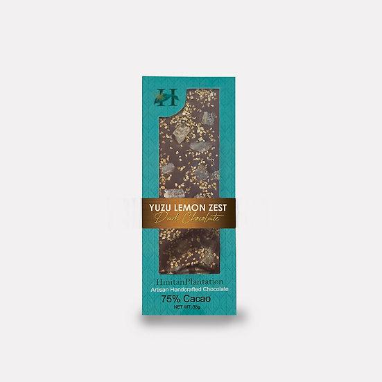 Hinitan Yuzu Lemon and Lemon Zest – 75% Dark Chocolate