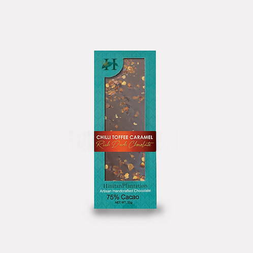 Hinitan Chili Flakes and Toffee Caramel  – 75% Rich Dark Chocolate