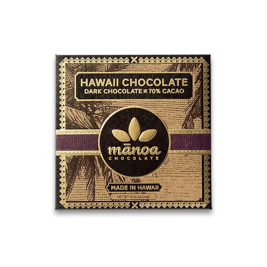 MANOA CHOCOLATE Hawaii Dark Chocolate Bar 70%