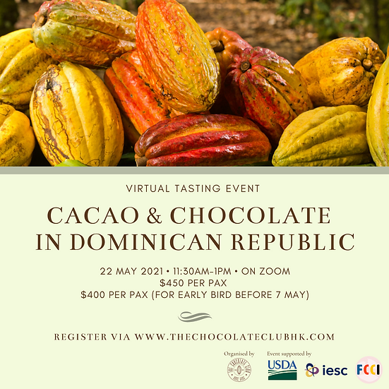 Virtual Chocolate Tasting Workshop for Dominican Republican Cacao & Chocolate