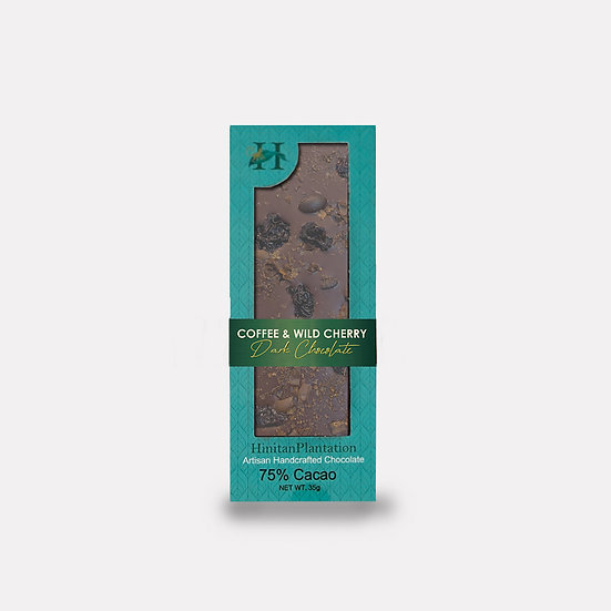 Hinitan Coffee and Wild Cherry – 75% Dark Chocolate