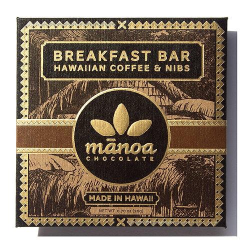 MANOA CHOCOLATE Breakfast Bar Chocolate Bar