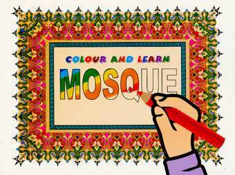 Colour and Learn Mosque-Book 1