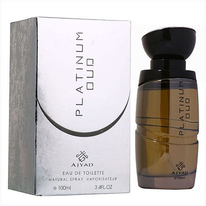 Ajyad Platinum Oud Eau De Toilette for Men 100ml