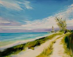 Ancon Lighthouse  oil  16x20