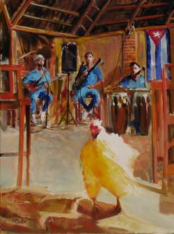 Chicken Dance  oil  24x18