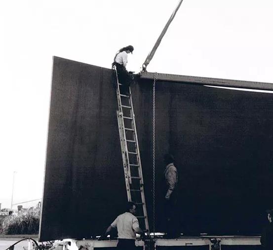 Richard Serra Sculpture Installation