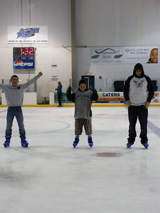 Students visit the Wichita Ice Center