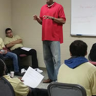 Korleone Young, former NBA player, speaks to students