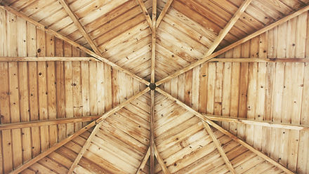 Carpentry Work - Wooden Gazebo Ceiling