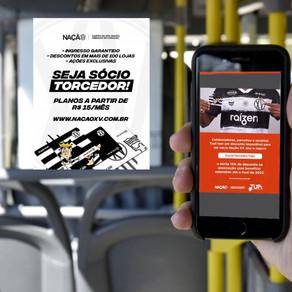 XV e TUPi lançam parceria 'Wi-Fi Zebrado' em linhas urbanas