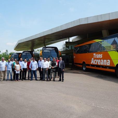 Trans Acreana compra 5 novos ônibus para o transporte intermunicipal do Acre
