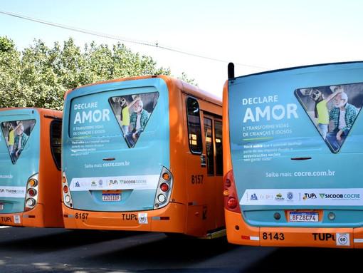 Campanha Declare Amor será veiculada em ônibus do transporte coletivo