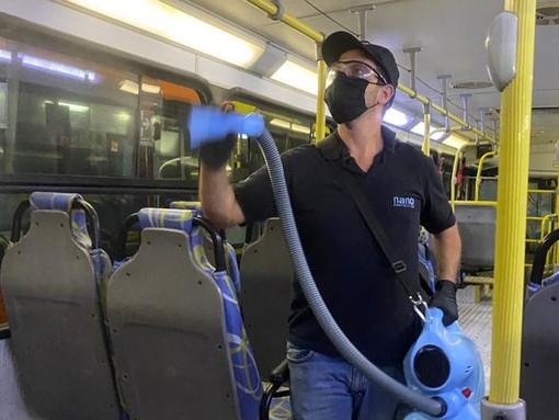 Proteção sanitária nos ônibus da TUPi