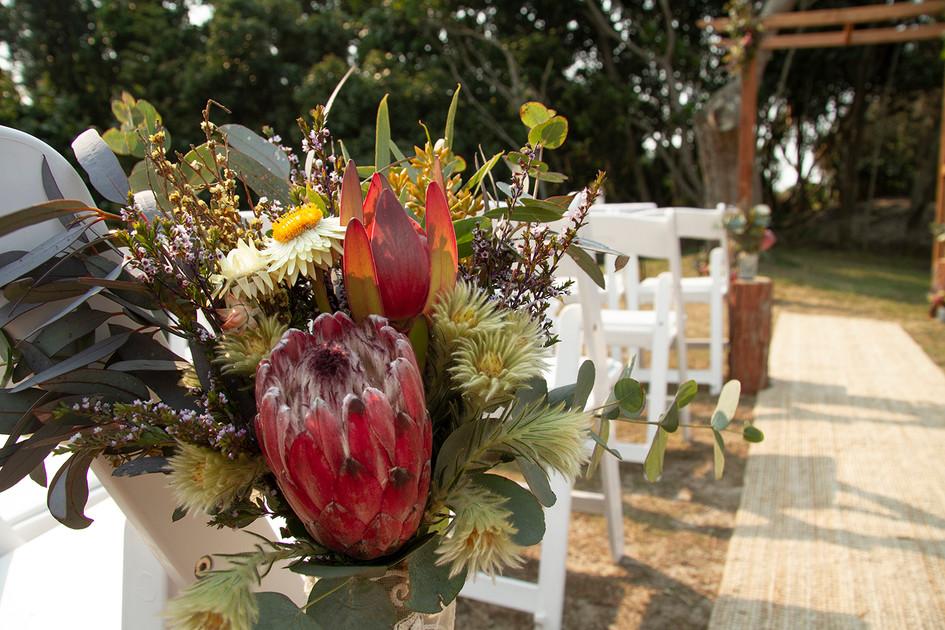 Rustic Wedding Ceremony Set Up