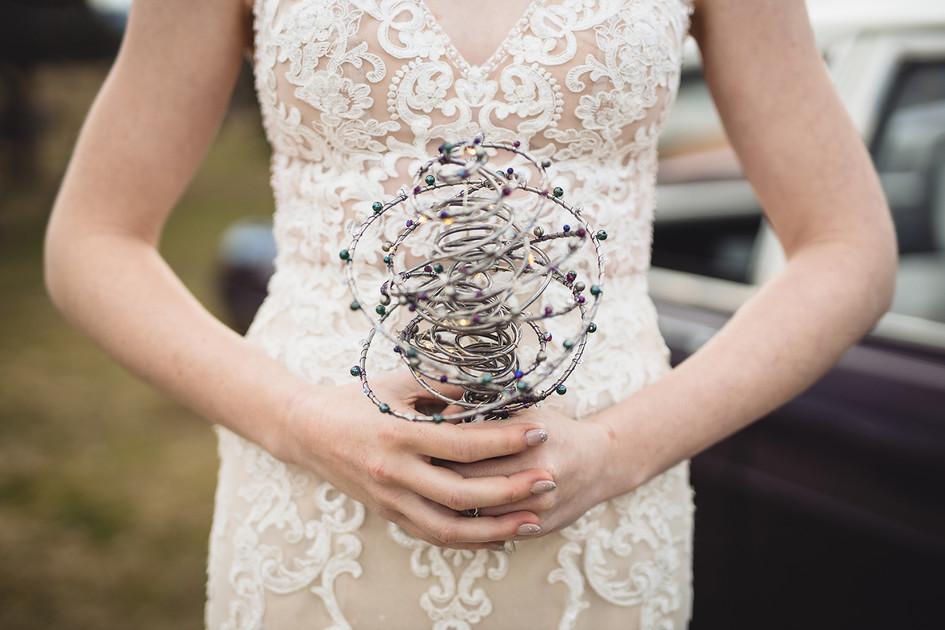 Alternative Wire & Gemstone Custom Bridal Bouquet
