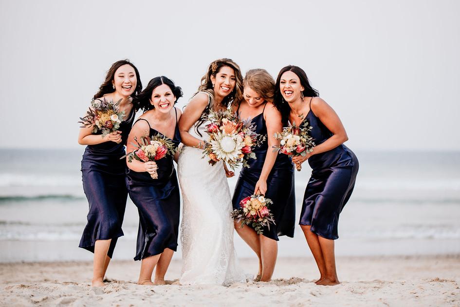 Bride and Bridesmaids Native Bouquets