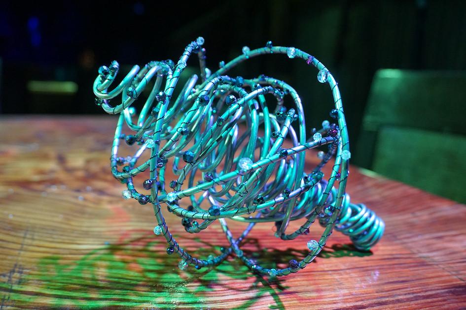 Alternative Wire & Gemstone Bridesmaids Bouquet
