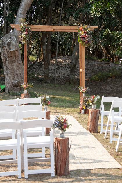 Rustic Ceremony Arbour