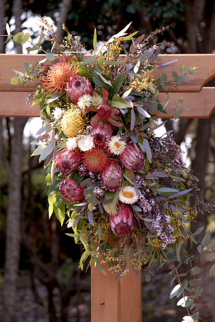 Rustic Native Arbour Flowers