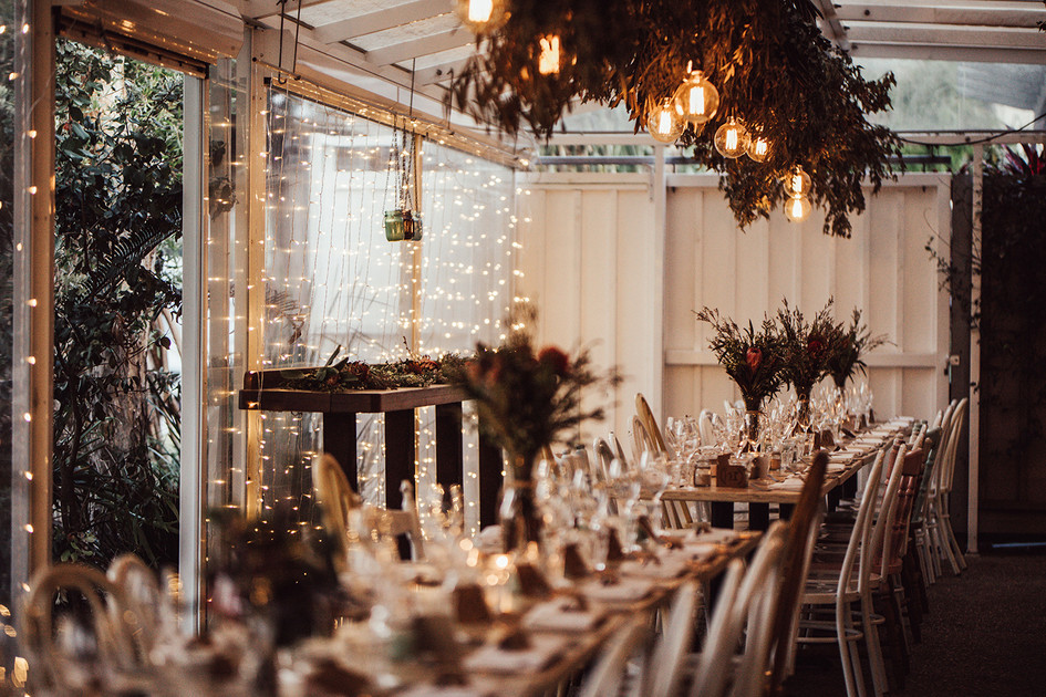Rustic Natural Reception with Native Flowers