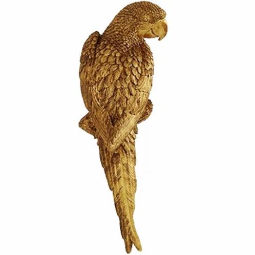 Perroquet mural doré