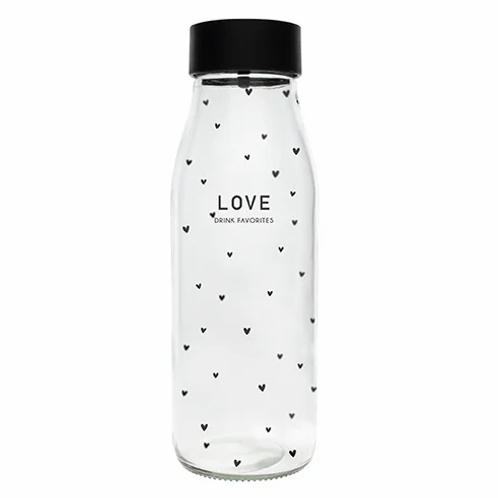 Carafe en verre BC - Love Drink Favorite