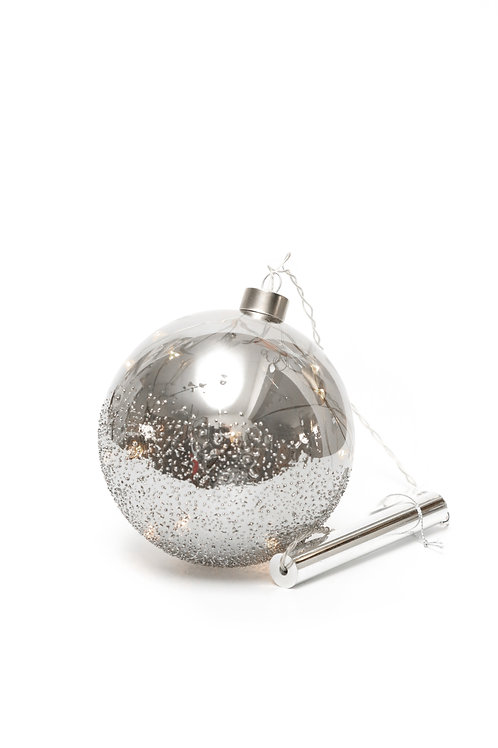 Boule grise mercurisée Leds avec timer