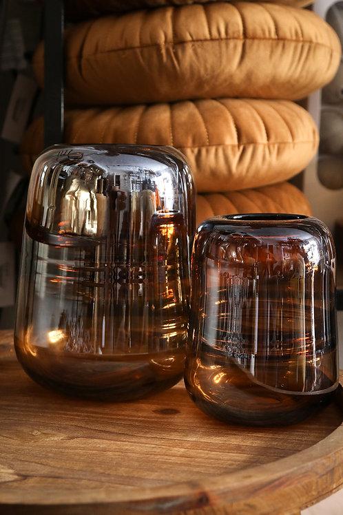 Photophore/vase Rio verre gold
