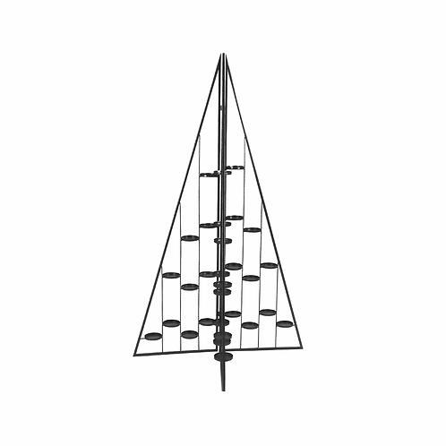 Sapin de Noël pliable en métal noir - 136cm