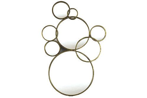 Miroir Evadine bronze/or