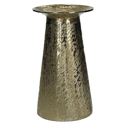 Chandelier alumium doré