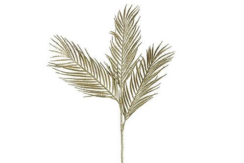 Palme artificielle dorée & pailletée