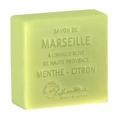 Savon de Marseille MENTHE - CITRON