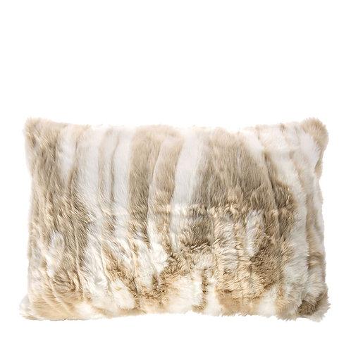 Coussin North fourrure beige