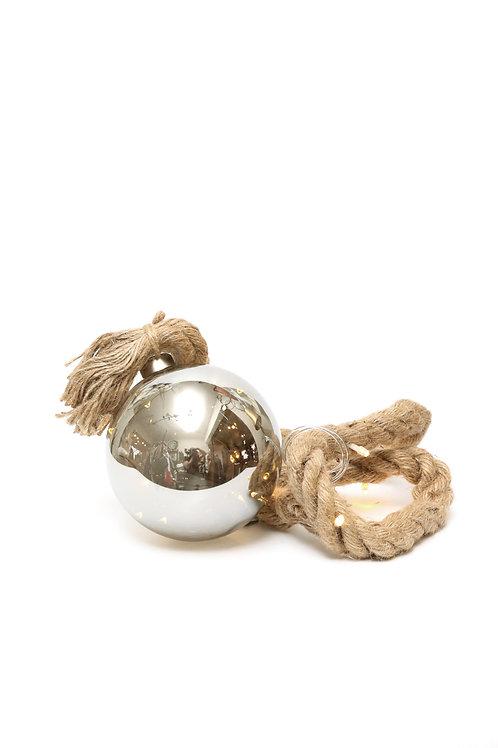 Boule Rahel grise Leds avec corde et timer