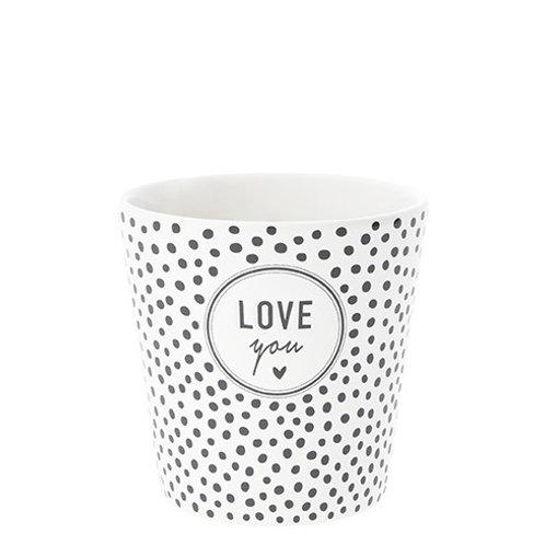 Petit Mug BC - Love You - Noir