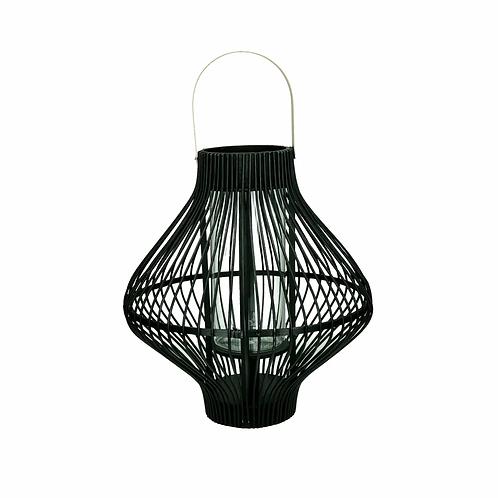 Lanterne Tule noire L - Bambou/Métal