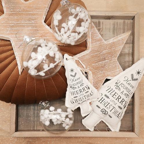 Boule Noël Bliss - Flocons blancs