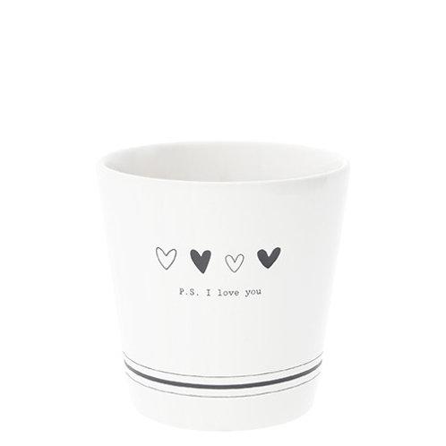 Petit Mug BC - P.S. I Love You - Noir