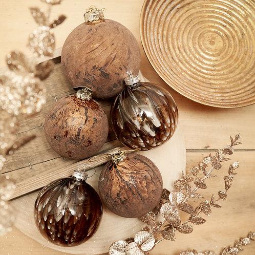 Boule Noël Xavi brun
