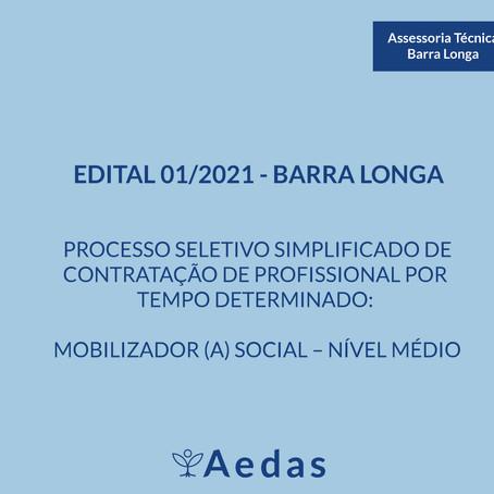 EDITAL DE SELEÇÃO N° 01/ 2021 Barra Longa