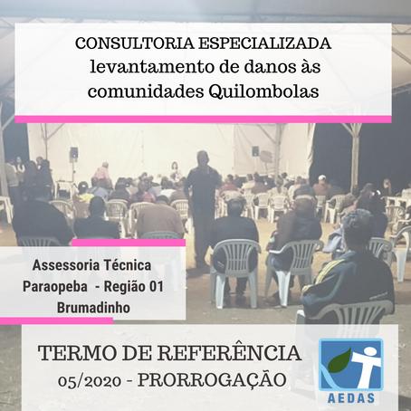 TERMO DE REFERÊNCIA 05/2020 ASSESSORIA TÉCNICA INDEPENDENTE DA BACIA DO PARAOPEBA – REGIÃO 01