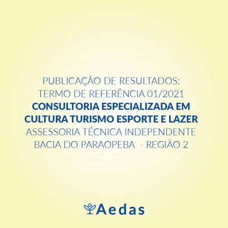 RESULTADO: TERMO DE REFERÊNCIA 01/2021 - ASSESSORIA TÉCNICA INDEPENDENTE BACIA DO PARAOPEBA REGIÃO 2