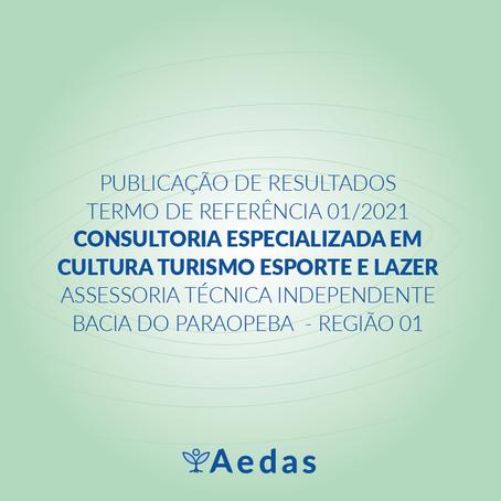 RESULTADO: TERMO DE REFERÊNCIA 01/2021 DA ASSESSORIA TÉCNICA INDEPENDENTE BACIA DO PARAOPEBA R1