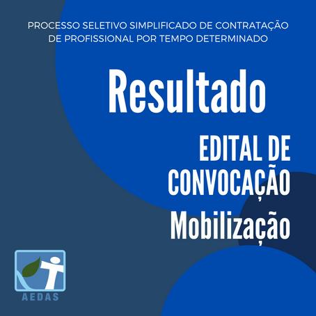 RESULTADO- PROCESSO SELETIVO SIMPLIFICADO DE CONTRATAÇÃO DE PROFISSIONAL  - EDITAL n°04