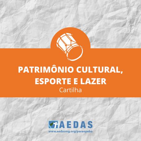 Patrimônio cultural, esporte e lazer são temas de mais uma cartilha da Aedas