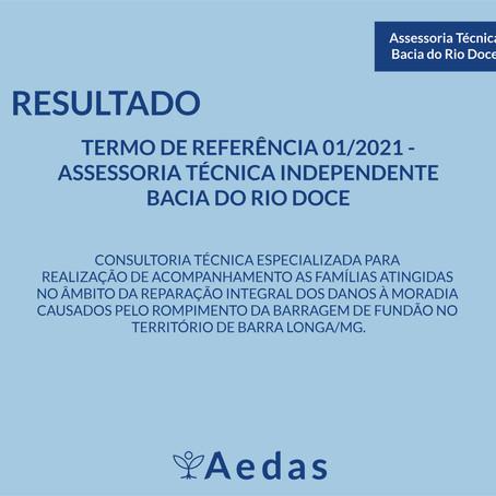 ERRATA: TERMO DE REFERÊNCIA 01/2021 - ASSESSORIA TÉCNICA INDEPENDENTE BACIA DO RIO DOCE