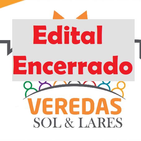 ENCERRADO - Chamada, Projeto Veredas Sol e Lares